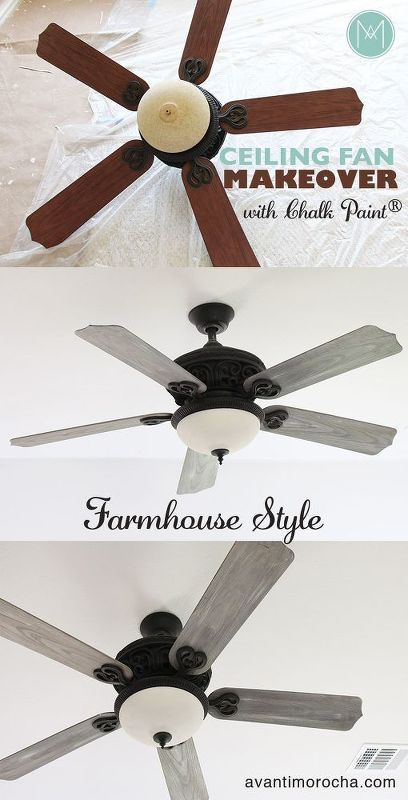 Diy Ceiling Fan Makeover Farmhouse Style Ceiling Fan Makeover Ceiling Fan Diy Diy Ceiling
