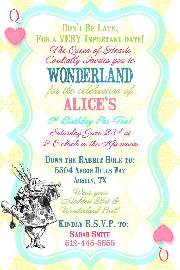 Alice In Wonderland Queen Of Hearts Birthday Tea Party