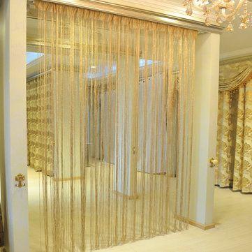 10x20m Glitter String Bead Door Curtain Panels Fly Screen Room