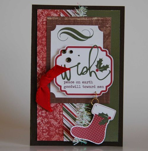 Wish Card from Very Merry Christmas Collection. #echoparkpaper