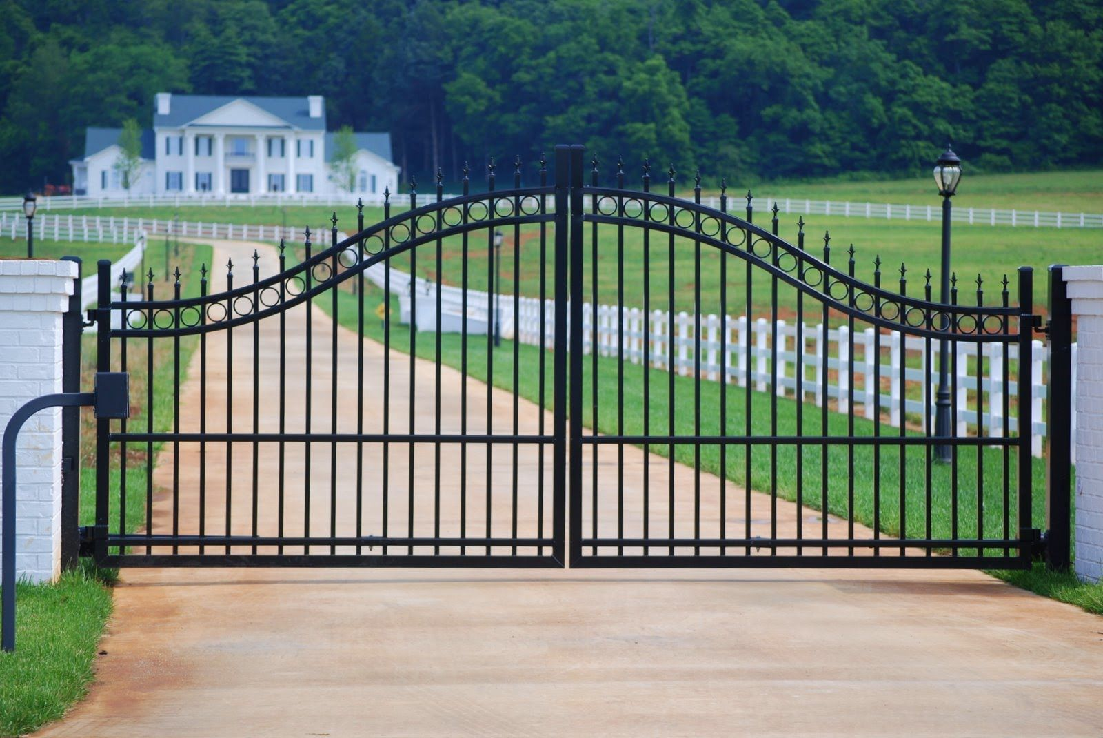 17 Best images about Driveway Gates on Pinterest | Iron gates, Metal gates  and Wrought iron