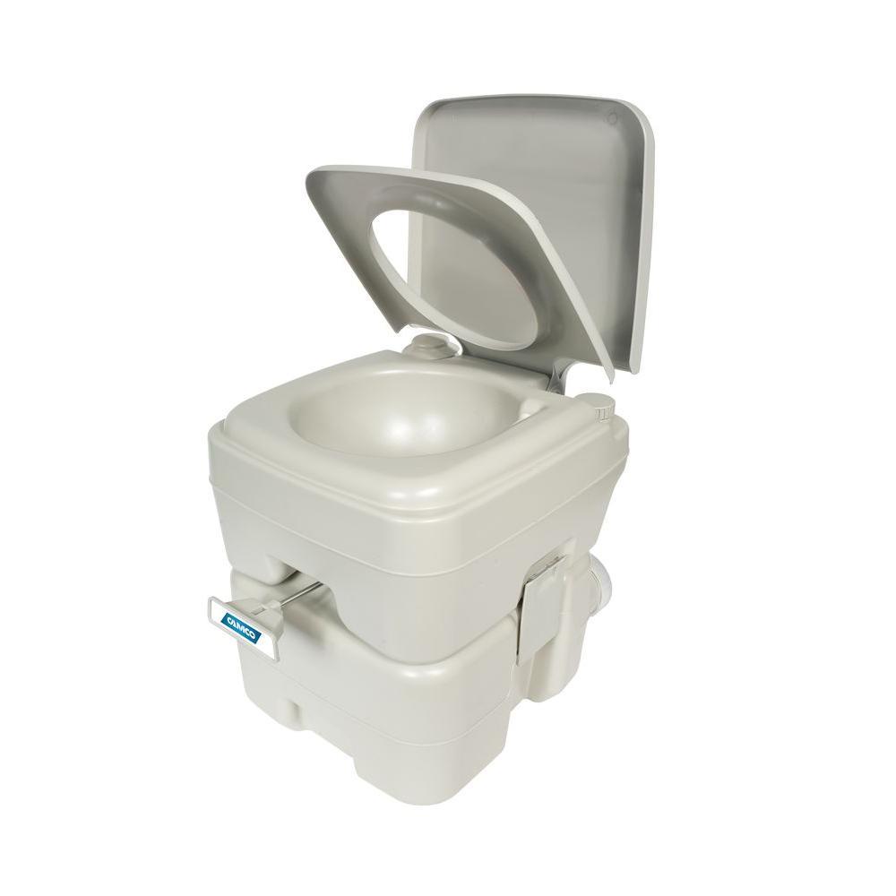 Camco 5 3 Gal Capacity Portable Toilet 41541 Portable Toilet For Camping Outdoor Toilet Camping Toilet