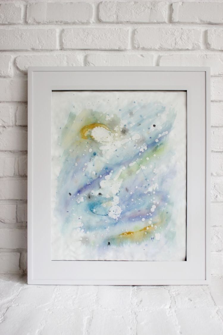 Do it yourself wax resist watercolor art maiedae home diy statement artwork for your home using wax and watercolors solutioingenieria Gallery