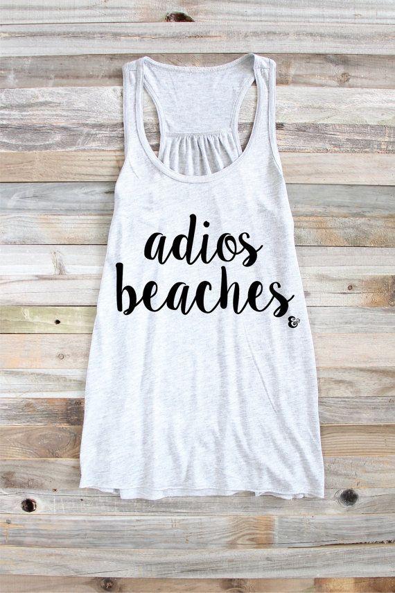 b230c2e915 Adios Beaches Beach Puns Beach Tank Funny Beach by PowderAndSea | My ...