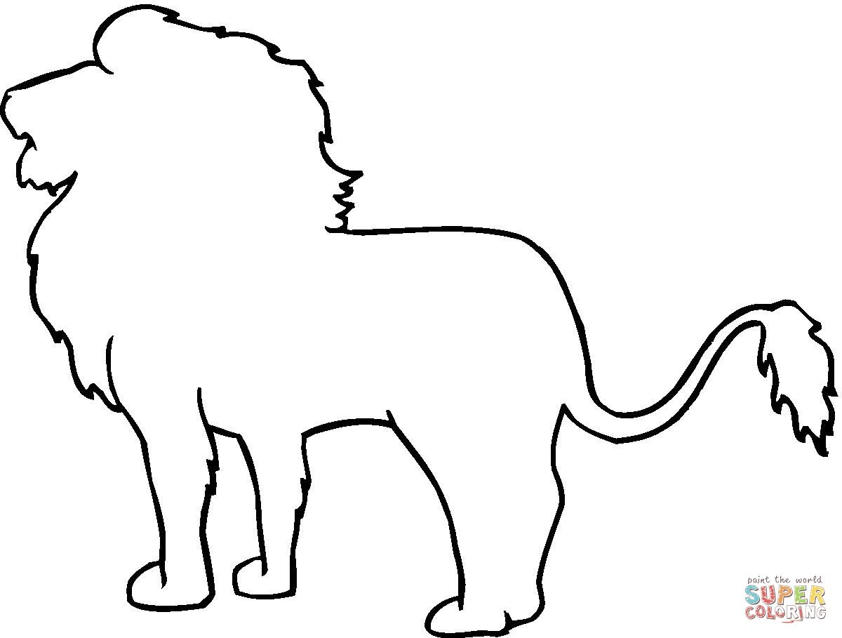 animal outline drawings lion outline coloring online - Animal Outlines For Colouring