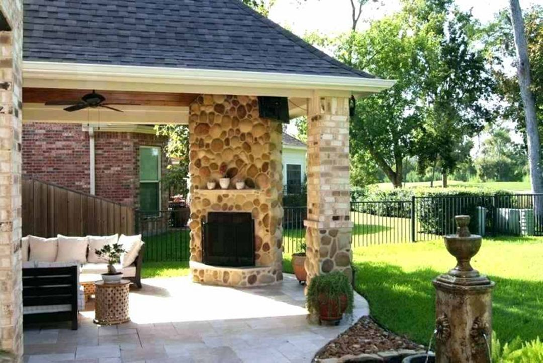 Backyard Fireplace Patio, Outdoor Patios With Fireplaces Design