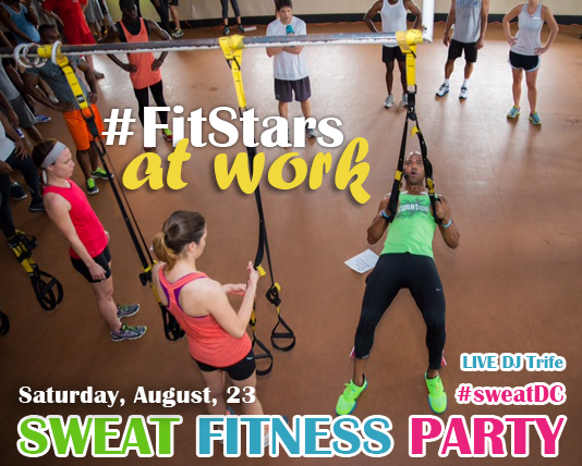 SWEAT Fitness Party! With Trainer: #coachgfitness, #fitstars, #fitness, #healthylifestyle Sign up for only $20 at www.STROGA.com ( STROGA ) under classes for October, 18th to reserve your spot, and bring your friends.
