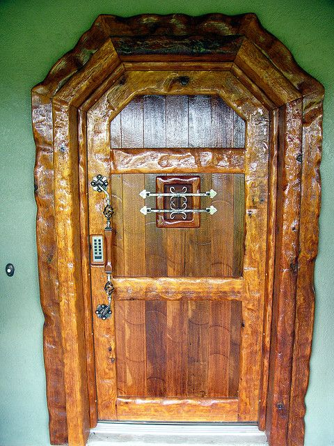 Front door crafted by Dick by Kathleen Tyler Conklin