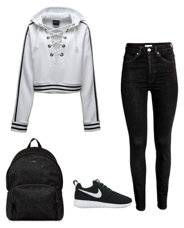 """""""Untitled #223"""" by lignonolivia on Polyvore featuring Puma, NIKE and Hogan"""