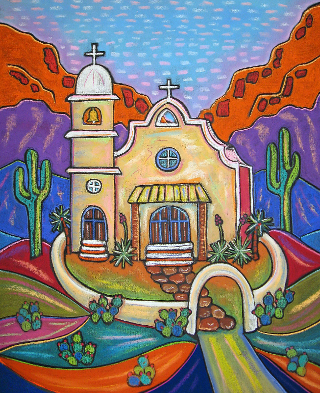 Jenny Willigrod Original Southwest Art CHURCHES South