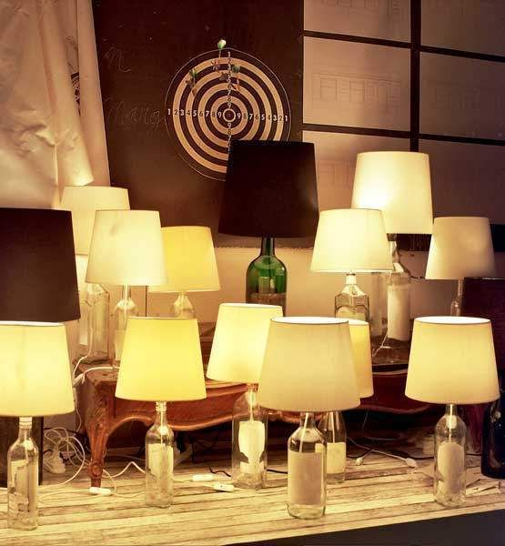 Light up your life by replicating european designer brand maison martin margielas cheap chic bottle lamps these innovative conversation pieces make for a