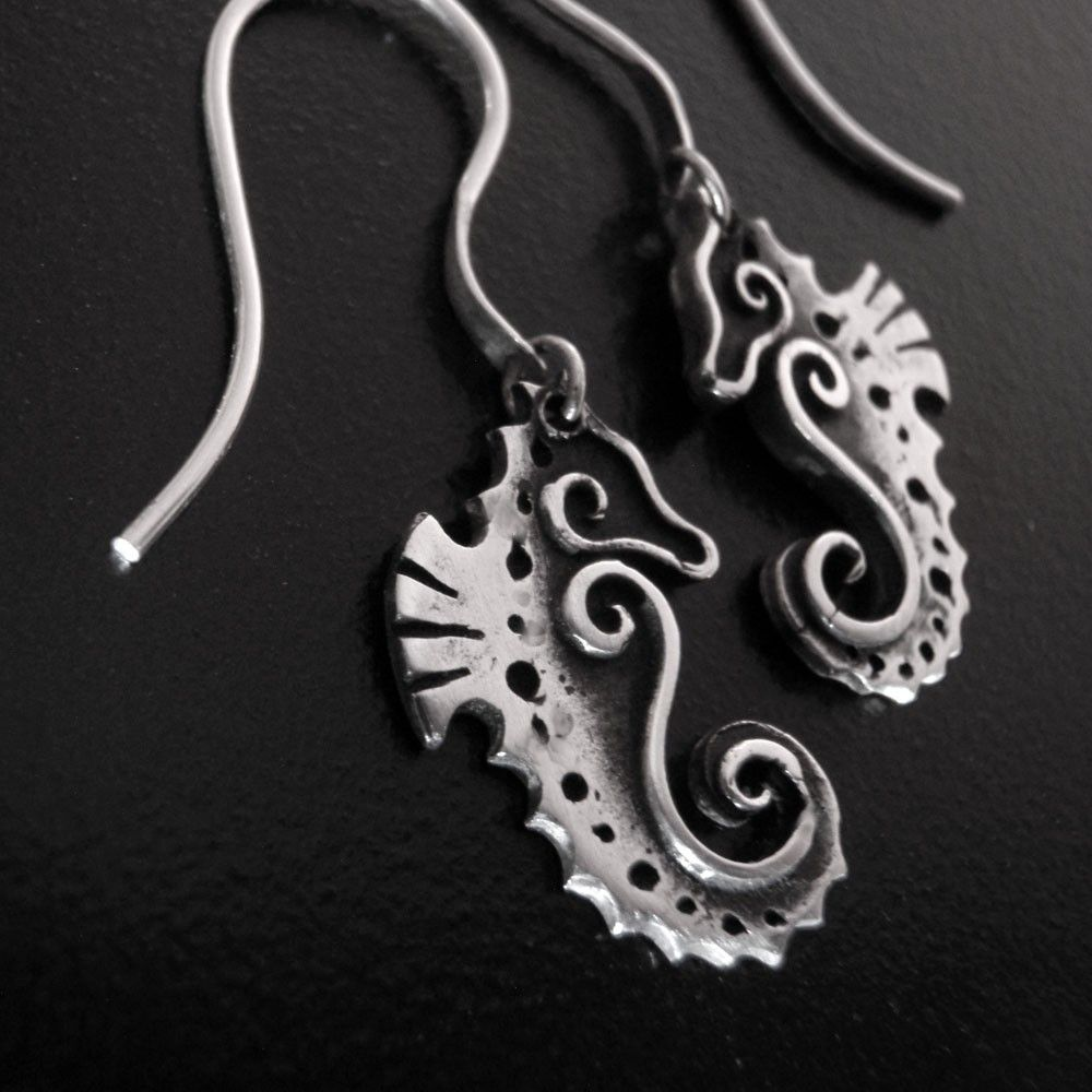 Baby Seahorse Earrings - Fine Silver | Baby seahorse, Seahorses and ...