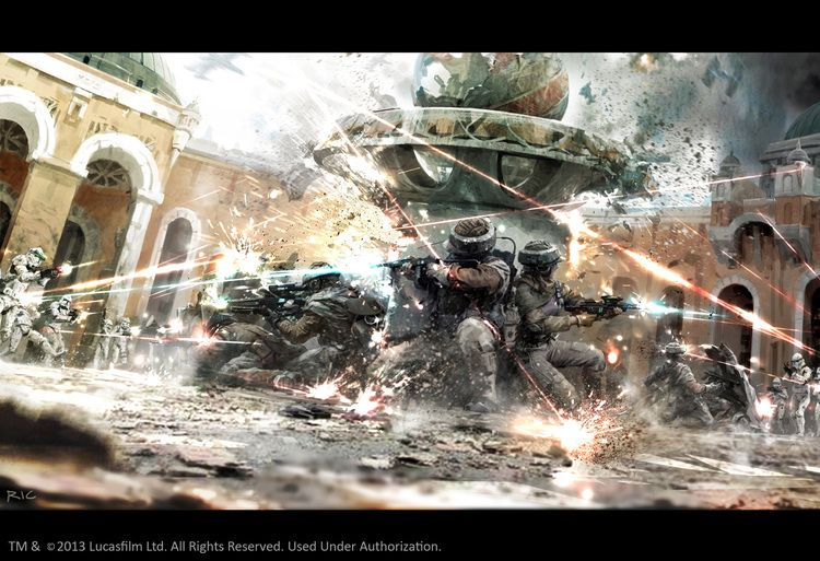 Star Wars Stormtroopers Fantasy Art Artwork Bwing Down: Action Packed Stormtrooper STAR WARS Art