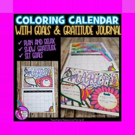 #calendar #coloring #dateless #goals #gratitude #journal