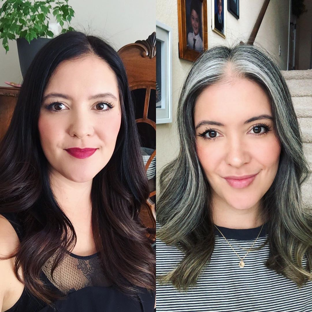April Slessor On Instagram Afraid The Gray Will Make You Look Older I May Argue It Does The Opposite Grombre Silversisters Beforeandafterhair In 2020