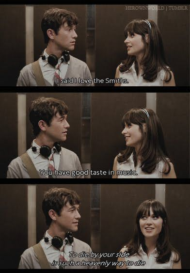 I Said I Love The Smiths With Images 500 Days Of Summer