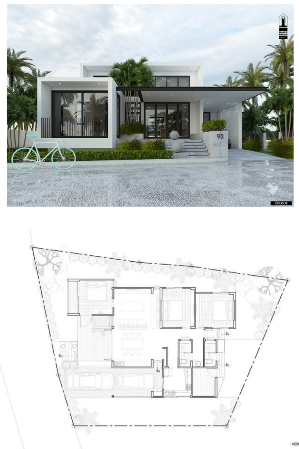 Luxurious Modern Bungalow With Three Bedrooms Classic House Exterior Cottage Style House Plans Bungalow House Design