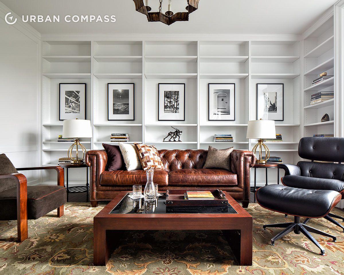 Bruce Willis's stylish library