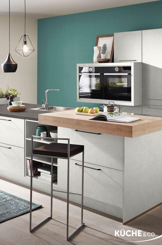 Design Küche in Grauschiefer Nachbildung Küche Go Green