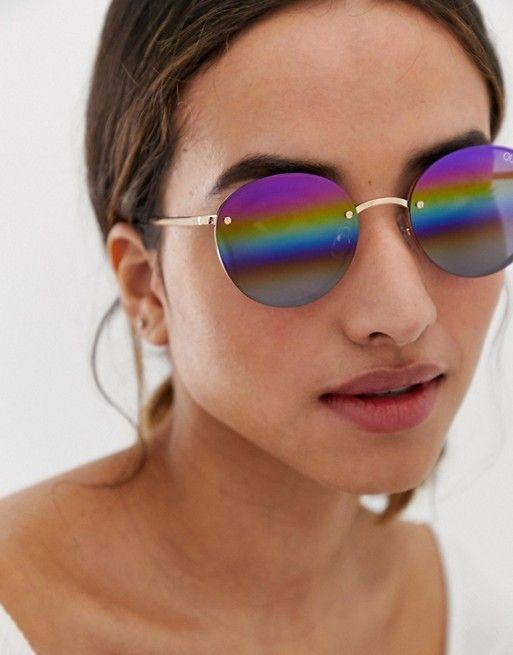 Quay Australia farrah round sunglasses in purple   ASOS
