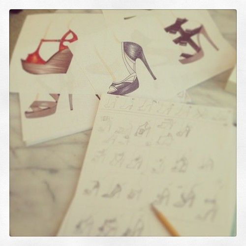 Off to China to make these sketches into real shoes…