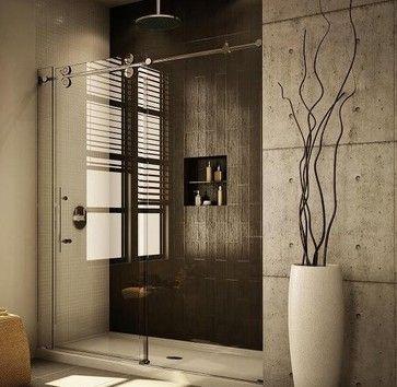 Elegant Stainless Barn Style Sliding Glass Shower Door Hardware