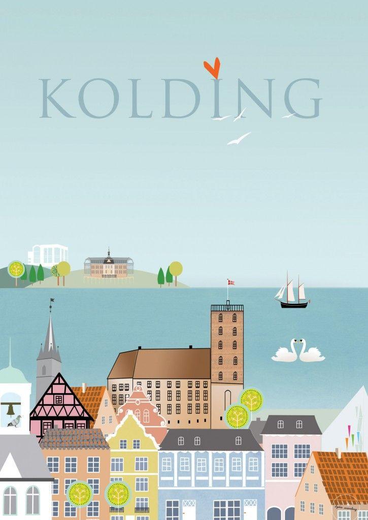 Kolding 2015 Poster By Lydia Wienberg Kolding Plakater Kort
