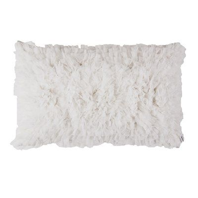 Lili Alessandra Coco Sheer Lumbar Pillow Color White In