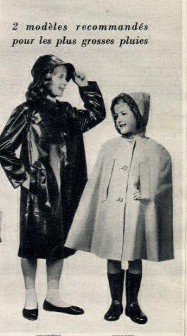 Vintage children rubber rainwear france 1950 39 s shiny black rubber mac and sou 39 wester - Le comptoir du caoutchouc ...