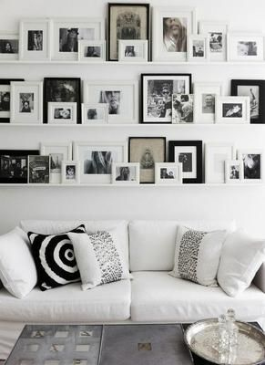 20 ideas para decorar con fotos y cuadros