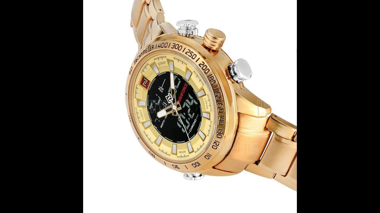 b3af0c6beee Relógio Masculino Marca Naviforce Dourado Importado Gearbest ...