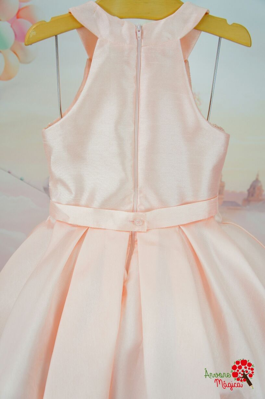Vestido Infantil de Festa Rosê Bordado Petit Cherie Kids   Vestidos ... a43de04221