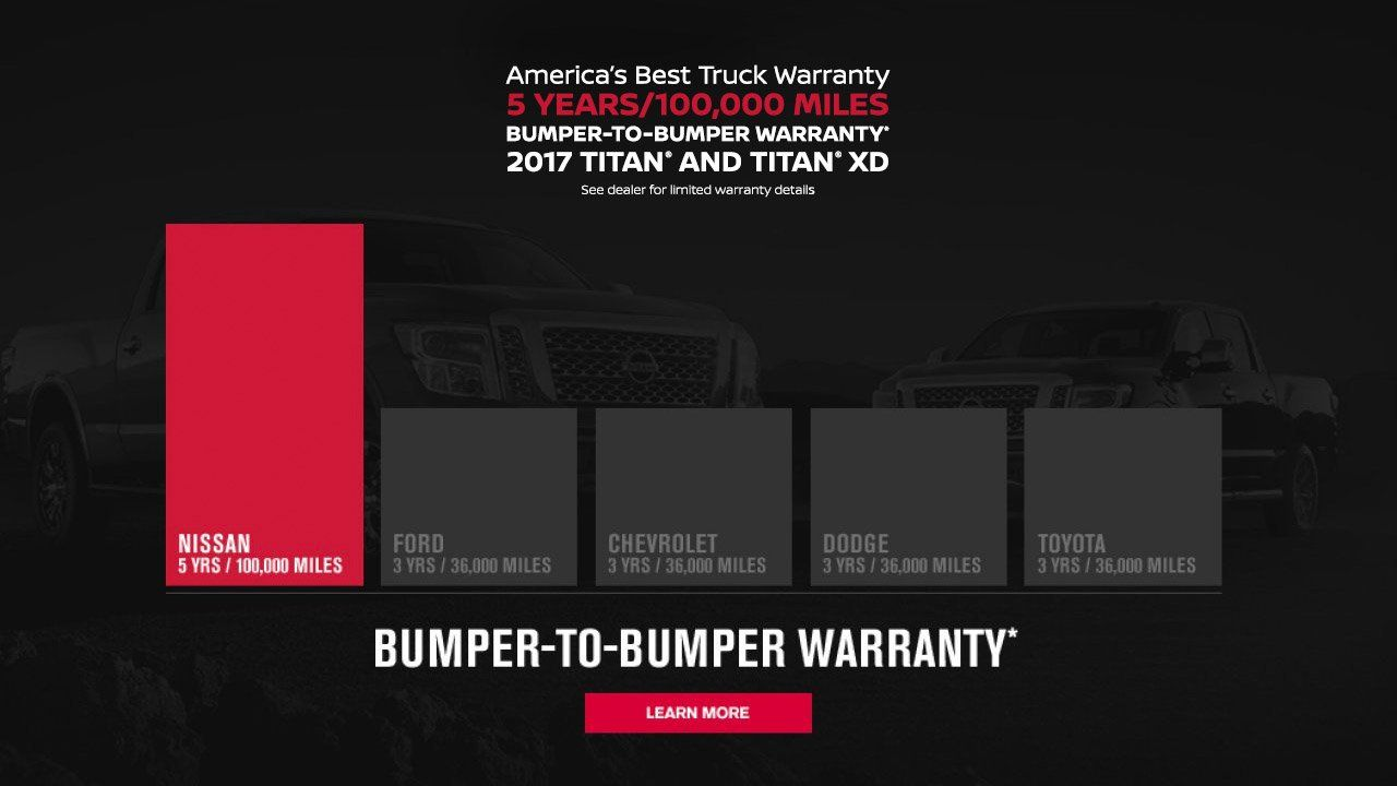 Nissan Has America S Best Truck Warranty 5 Years 100 000 Miles