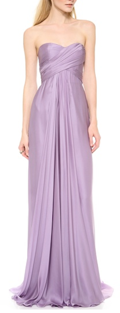 gorgeous Reem Acra ruched gown http://rstyle.me/n/jj9dhpdpe