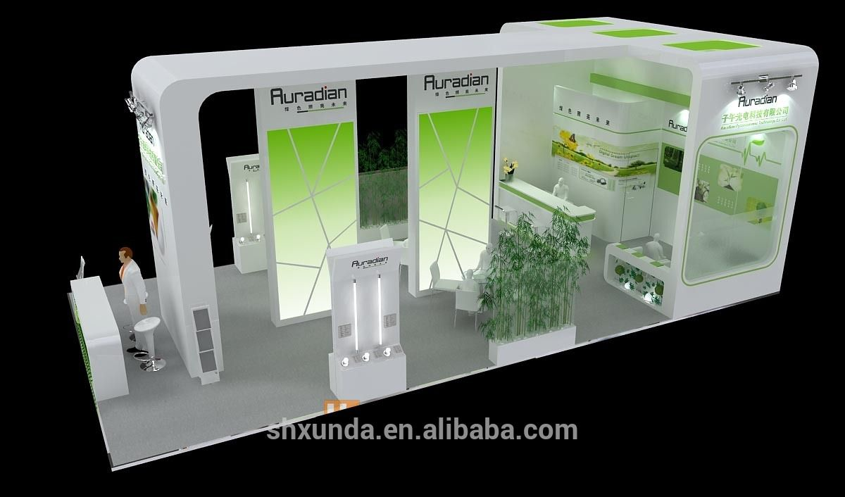 Basic Exhibition Booth : Simple but elegant exhibition booth view