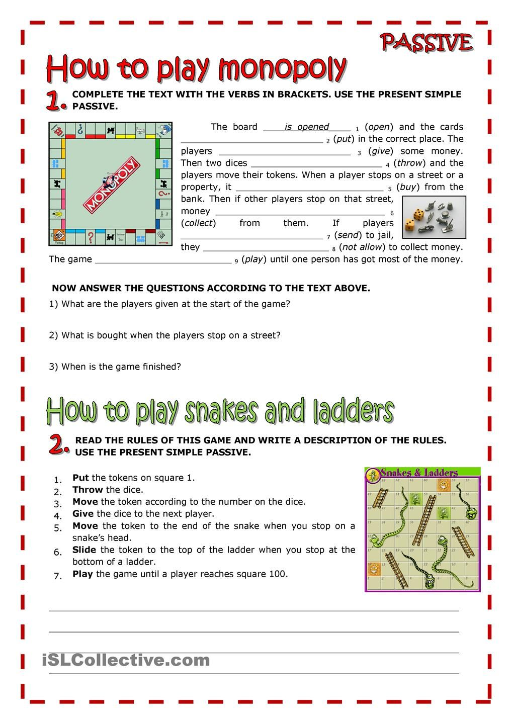 Worksheets Active And Passive Voice 1000 Que Worksheet board games and passive grammar pinterest gaming passive