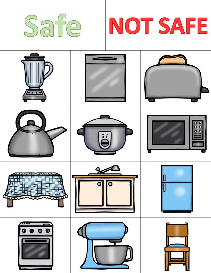 Kitchen Safety Worksheets and Activities Pack | Worksheets, Safety ...