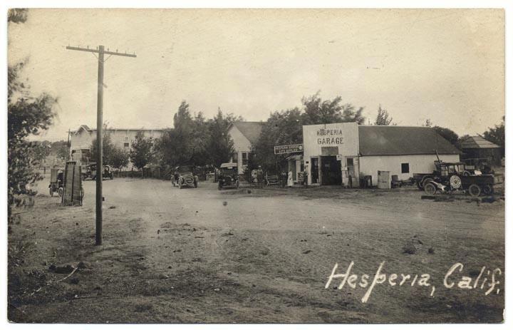 Hesperia Road between Juniper and Spruce   1937