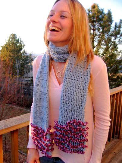 WACKY FUN TUBE #scarf free #crochet pattern | Scarves - Free Crochet ...