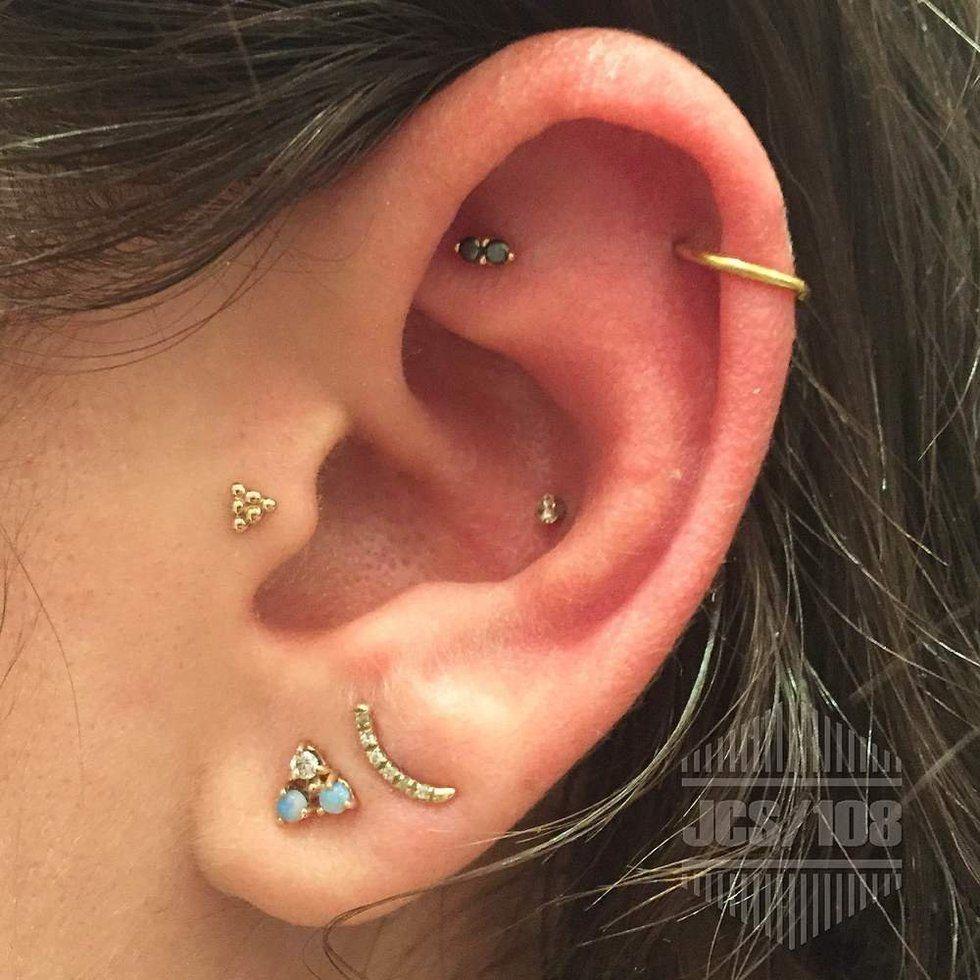 Inner Conch Right Ear Piercings Ear Jewelry Cute Ear Piercings