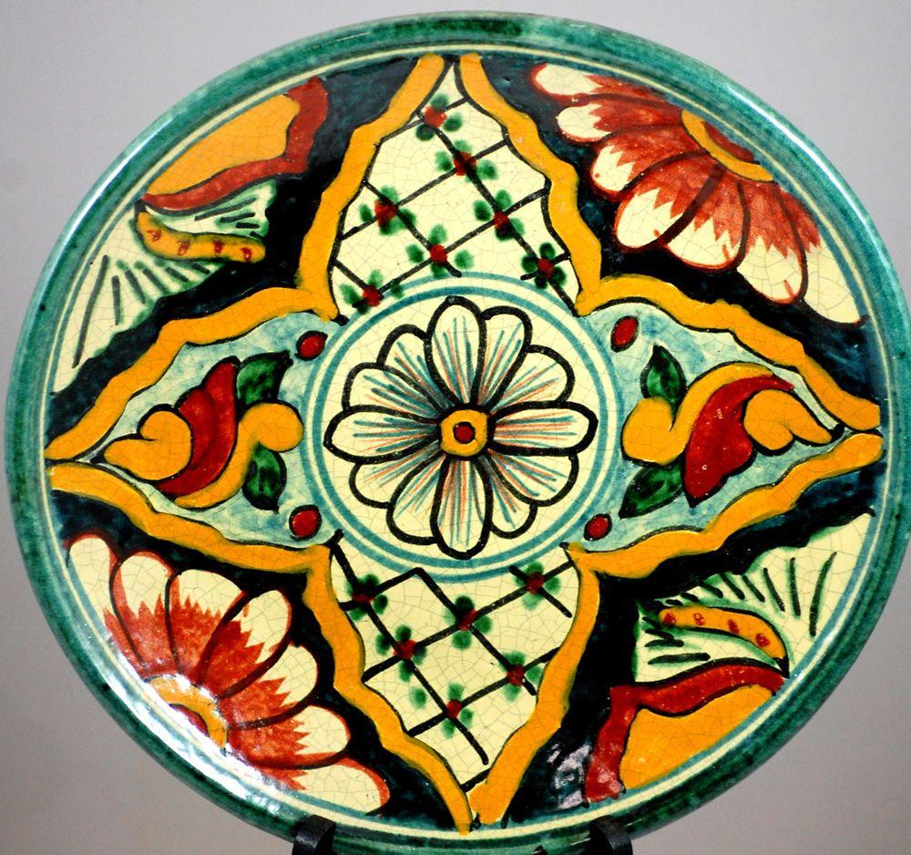 Casal Mexico Decorative Art Pottery Plate #mexican folk art ...