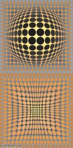 Untitled 10 - (Victor Vasarely)