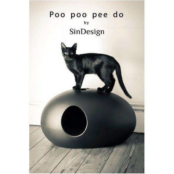 poo poo pee dosindesign - maison de toilette pour chat design
