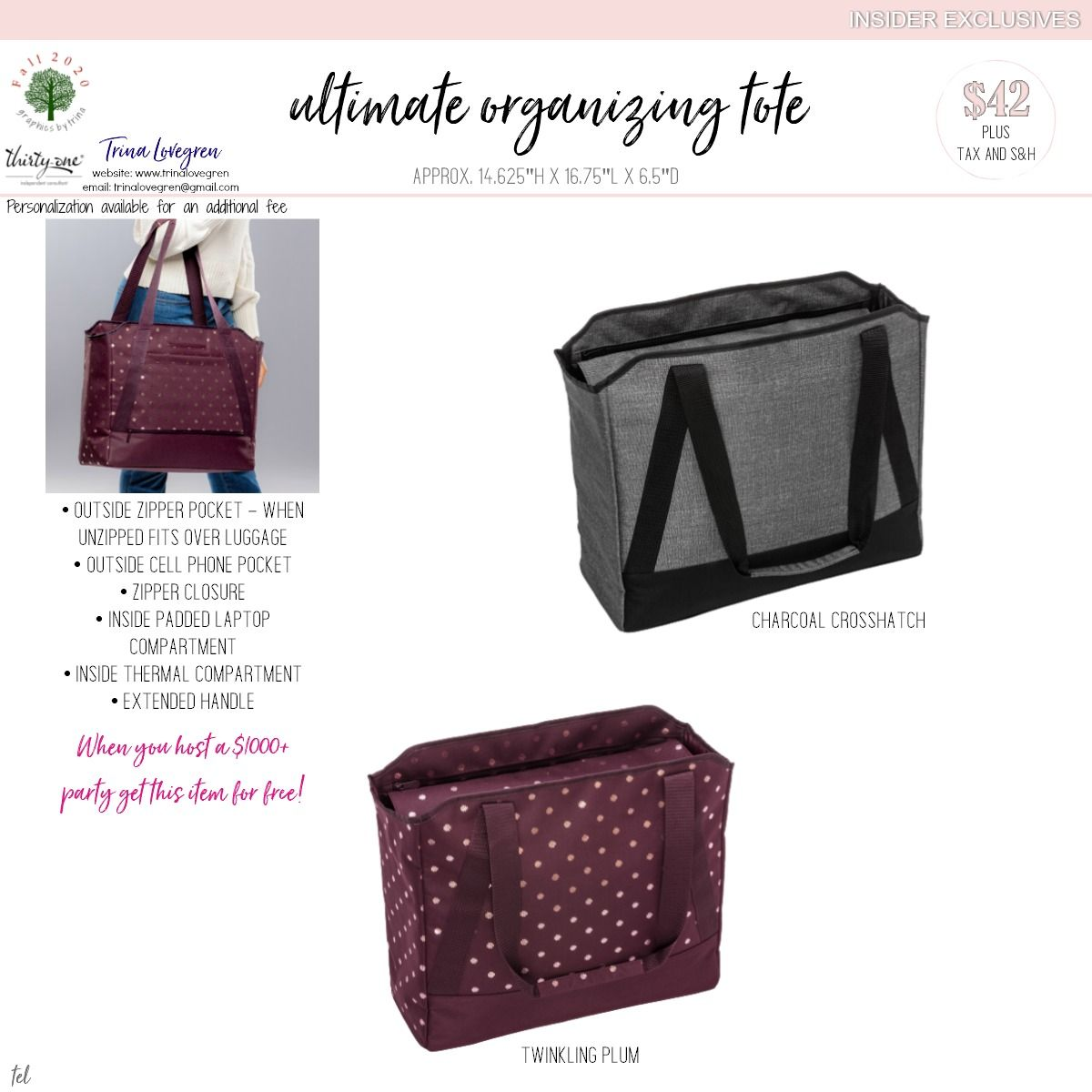Ultimate Organizing Tote in 2020 Thirty one fall, Thirty