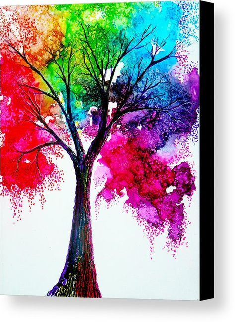 Photo of Rainbow Tree Canvas Print / Canvas Art by Ann Marie Bone
