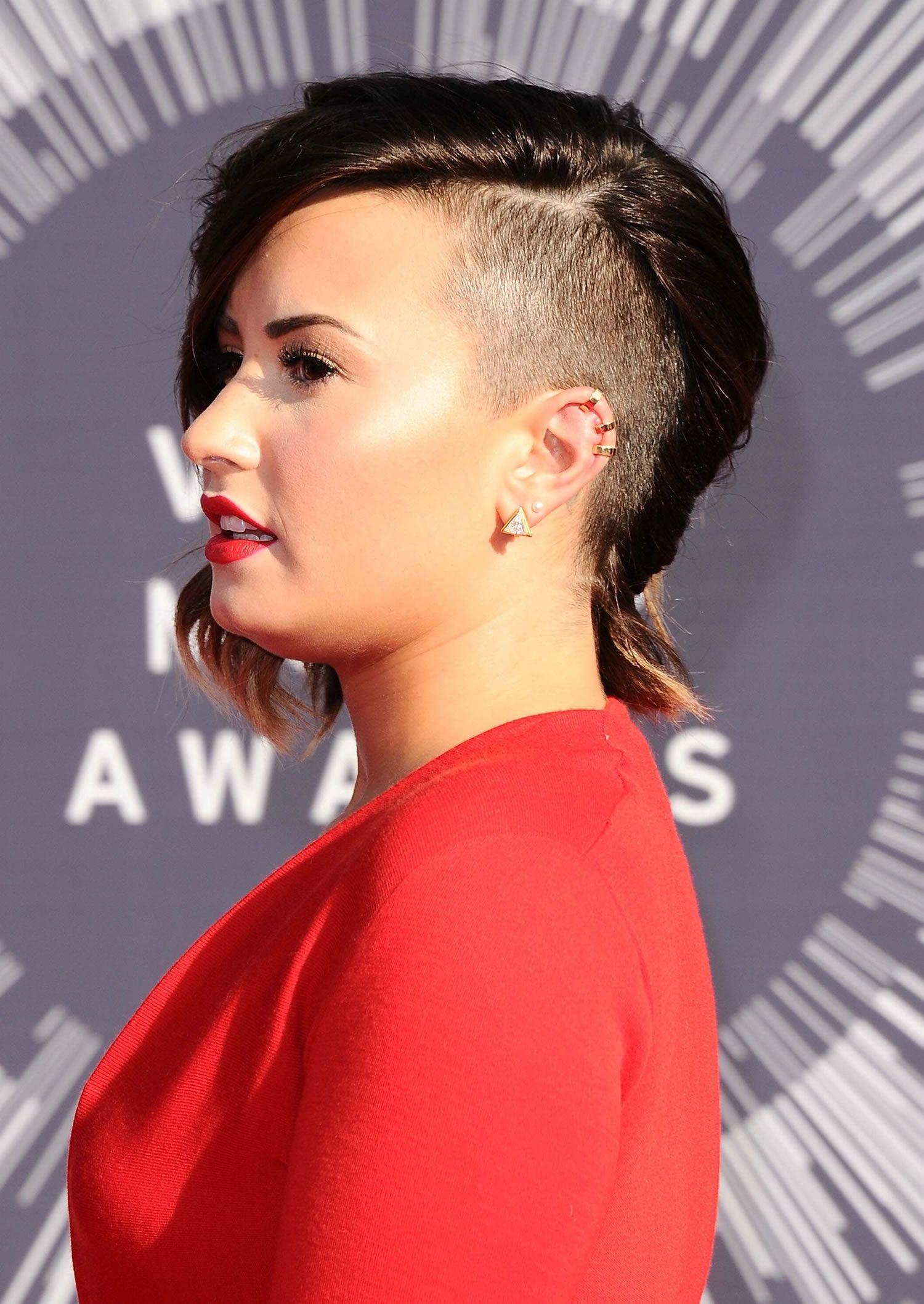 Demi Lovato Wearing Lanvin at 2014 MTV Video Music Awards in Inglewood
