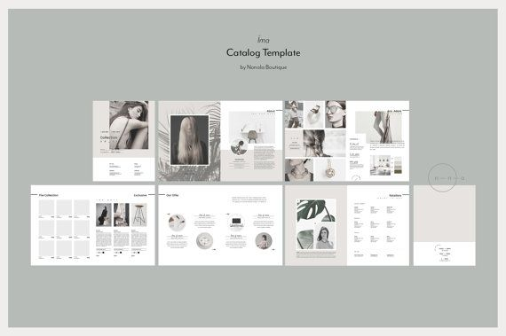 Editorial Catalog Magazine PSD Lookbook By Nonola Boutique Template