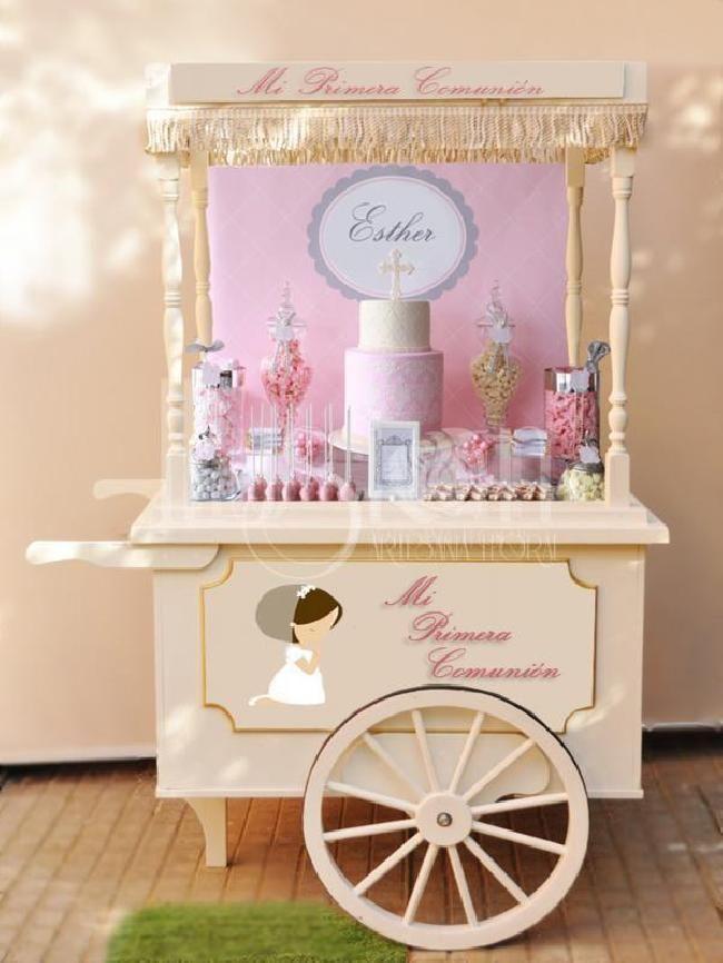 Carrito vintage bodas bodaeventus eventos pinterest for Carritos chuches comunion