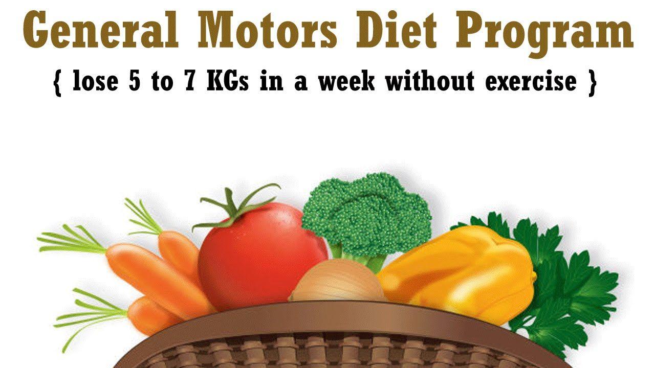 general motors diet plan for non vegetarians