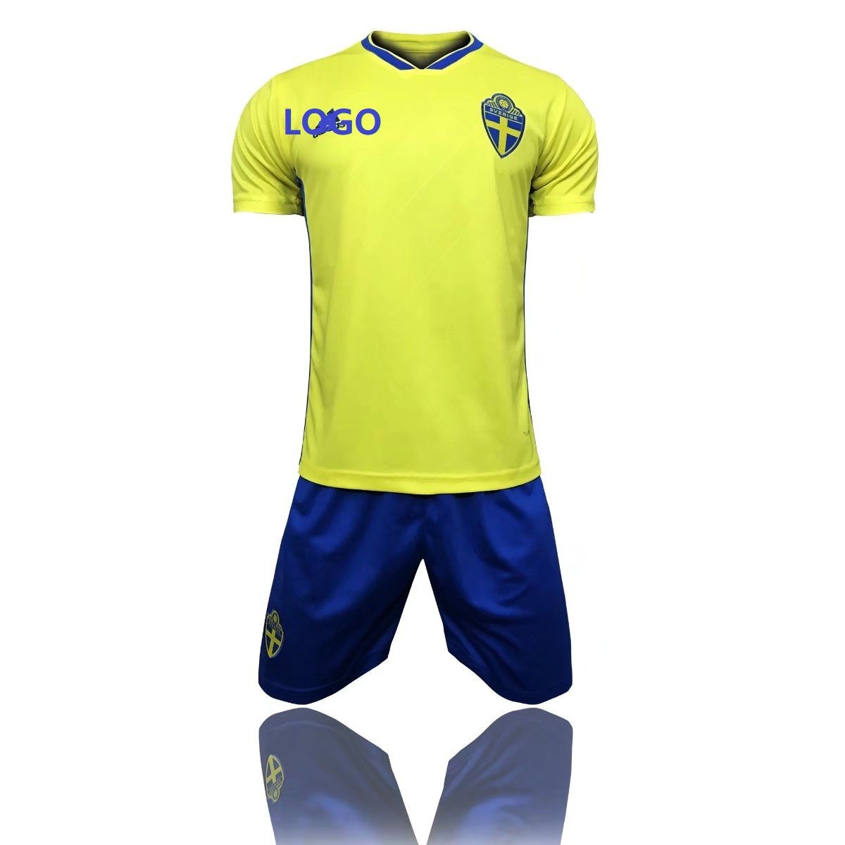 225c5286f3c 2018 Adult Sweden Home Yellow Soccer Jersey Uniforms Russia World Cup  Football Team Kits Custom Name Number